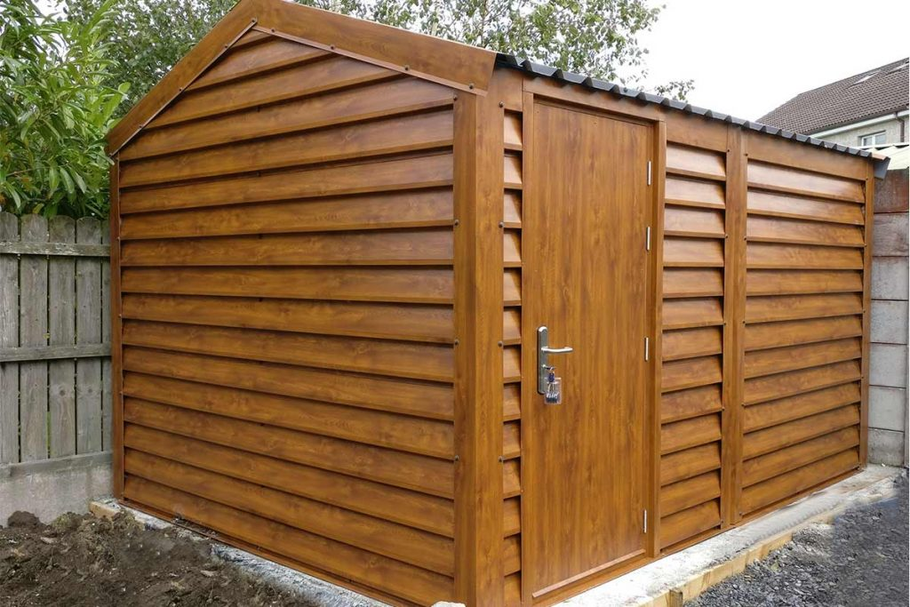 13'-x-9'6-Silver-Range-Garden-Shed-with-plank-effect-upgrade