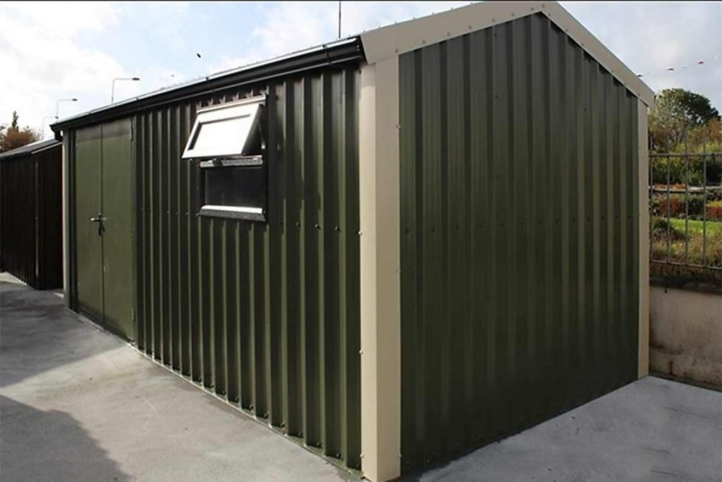 20'-x-9'6-Silver-Range-with-double-doors-&-window-Shanette-Sheds