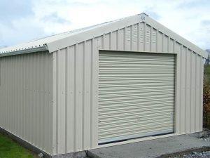 30' x 15' Bronze range Mushroom garage with side clad door & window Shanette Sheds
