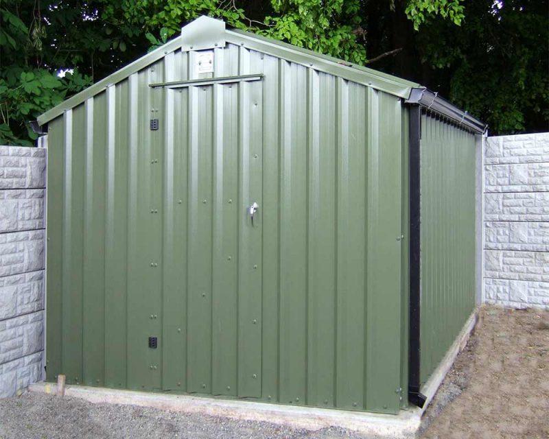 4.2m x 3m Bronze Range Olive Green garden shed Shanette Sheds
