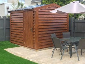 3.2m x 3m Silver Range with Plank effect upgrade Shanette Sheds