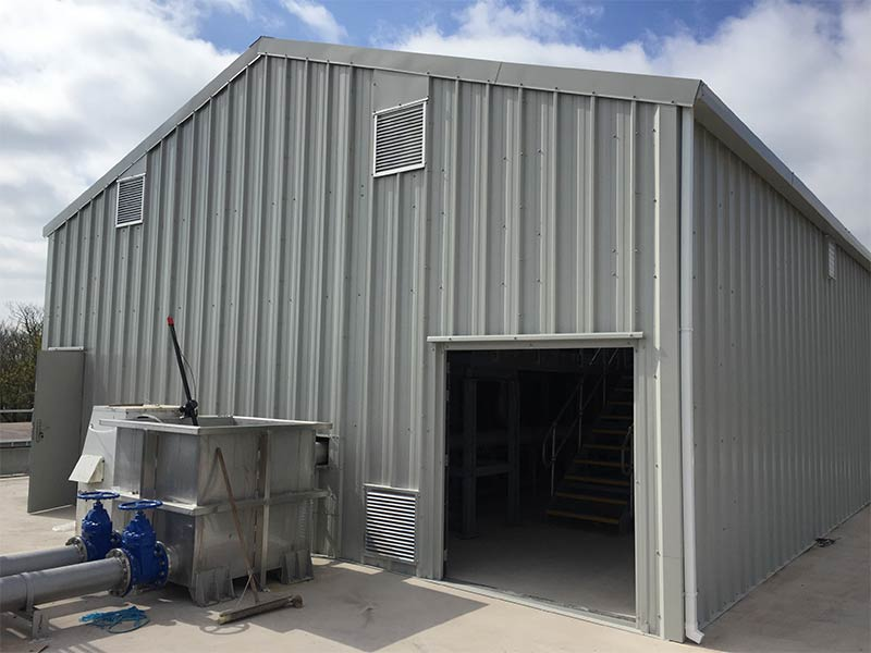 13m x 9.5m Gold Range plant room, Mogeely cheese factory, Shanette Sheds 800