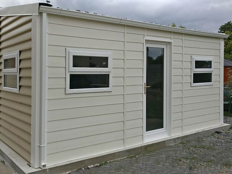 20' x 9'6 Gold Range unit with Plank effect & oprtex finish Shanette Sheds