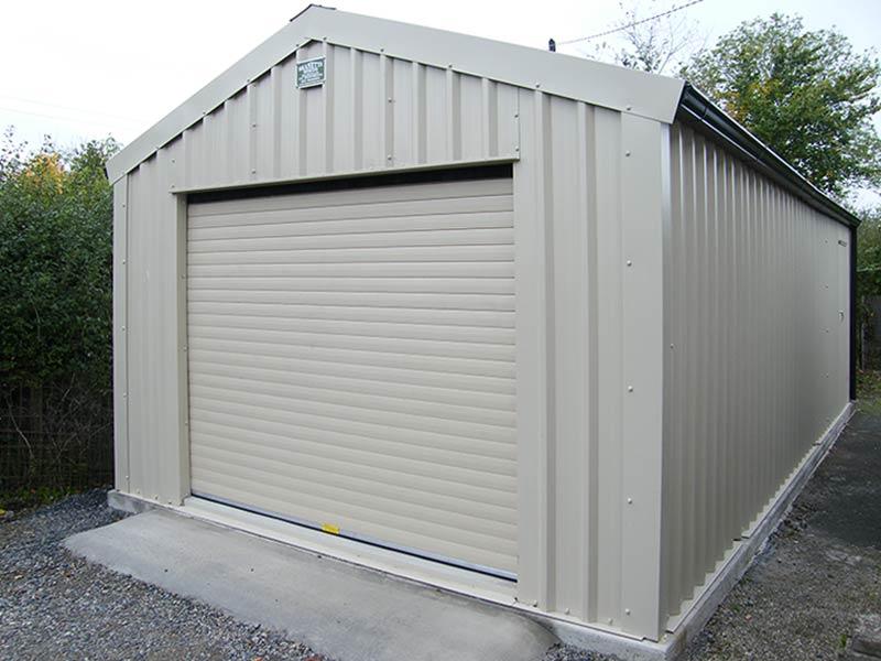 9.2m x 5m Gold range Vertical profile cladding Mushroom garage Shanette sheds