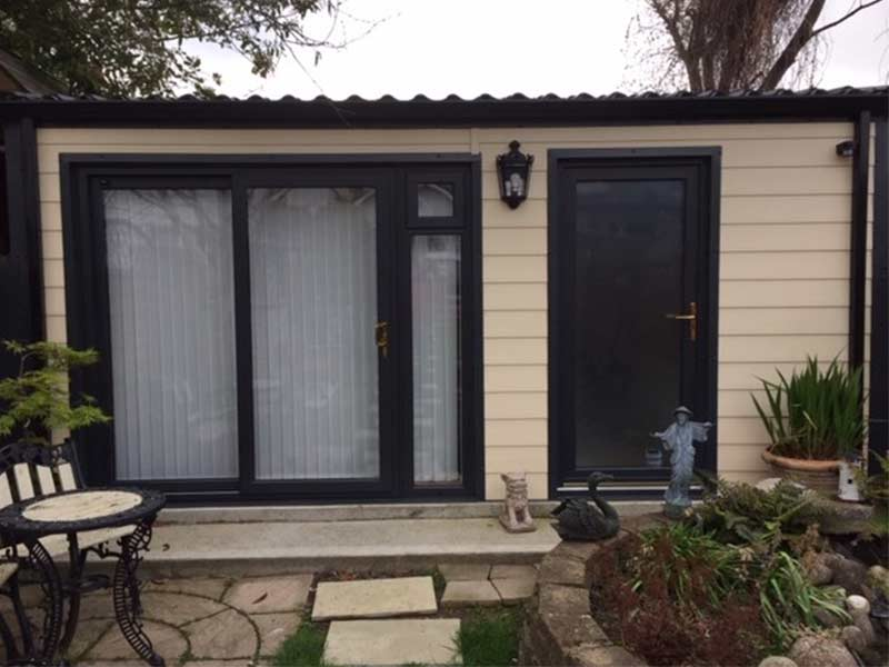 5.2m x 4m Insulated home office with Fortex finish Shanette Sheds