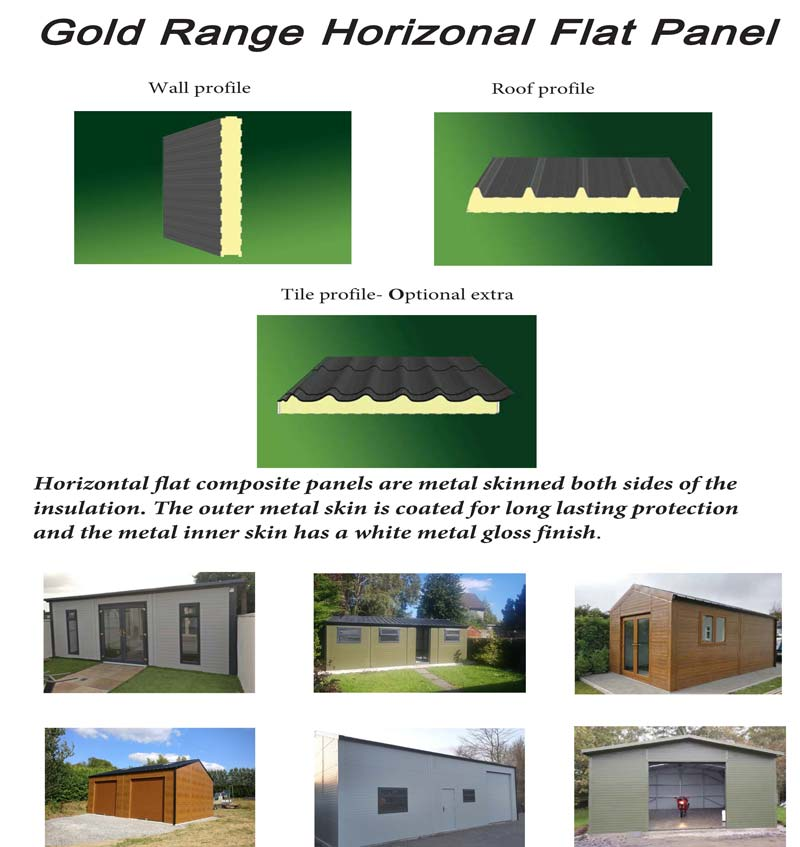 Shanette Sheds Garden Gold Range Horizontal Flat Panel Info Sheet