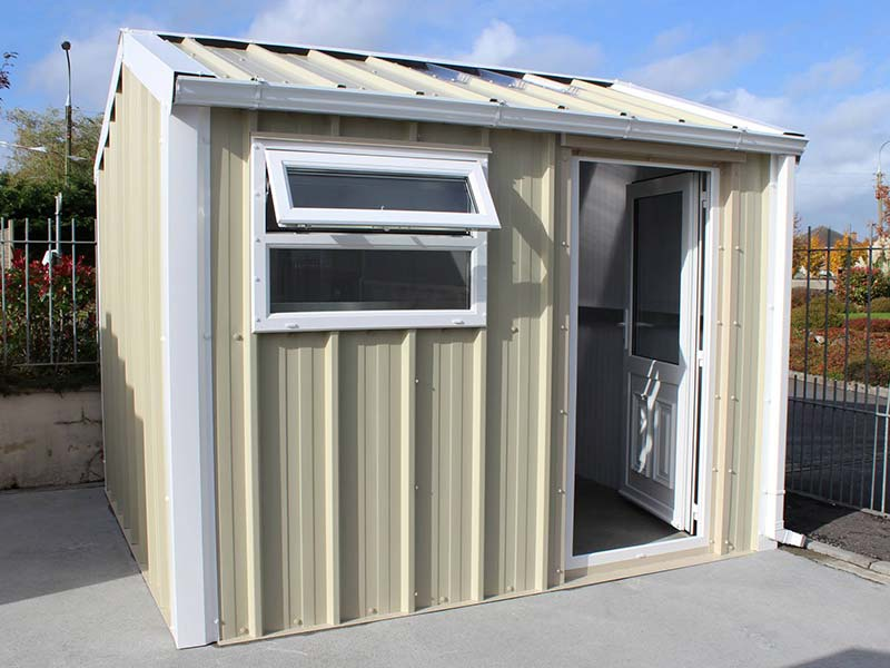 3.2m x 3m Gold Range Garden shed with vertical profile, PVC door & window Shanette Sheds