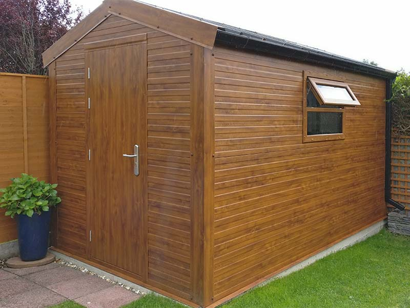 4.2m x 3m Gold Range Flat Panel with window Shanette Sheds
