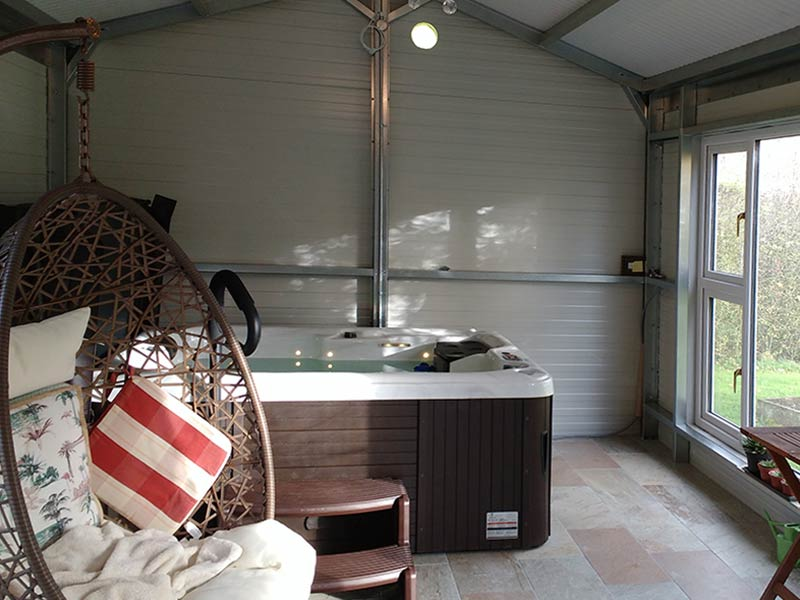 20' x 12' 80mm Hot tub Shanette Sheds