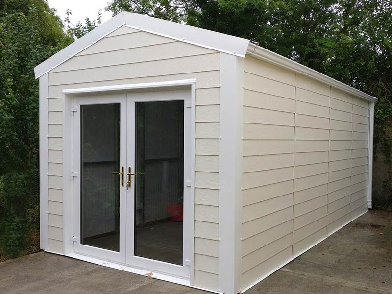 20' x 9'6 Gold Range Garden Room with PVC Fortex exterior finish