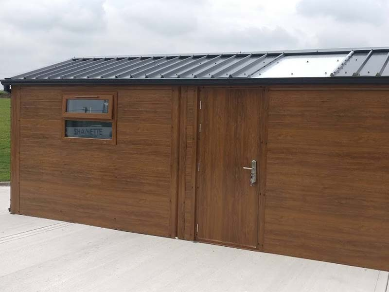 6.2m x 3m Gold Range garden shed with flat panel, & window Shanette Sheds