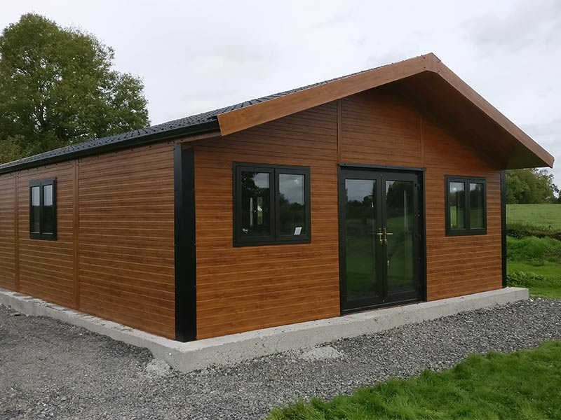 12.2m x 7m 80mm Insulated Chalet Shanette Sheds