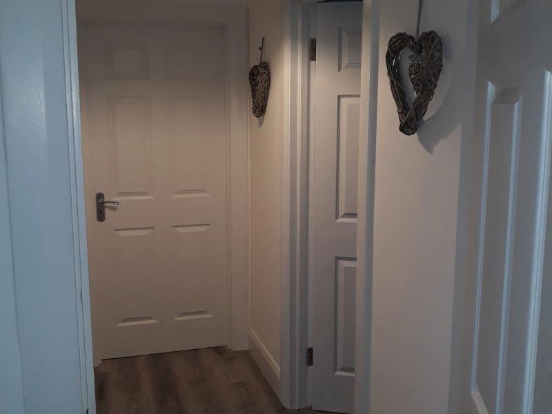 Chalet hallway Shanette Sheds
