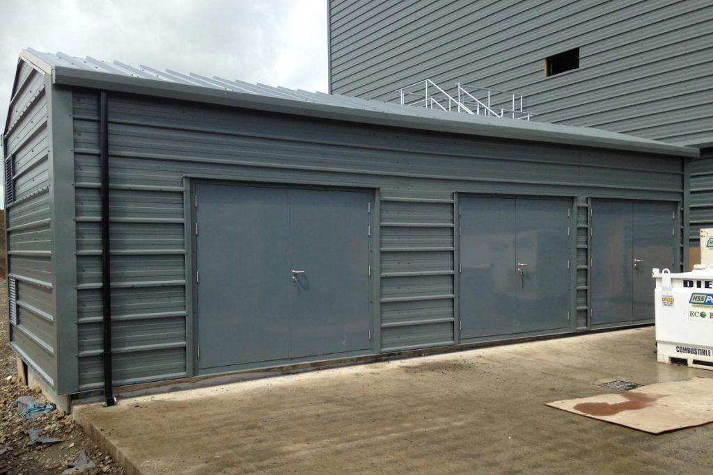 10.8m x 4m Gold Range Unit with Horizontal box profile cladding