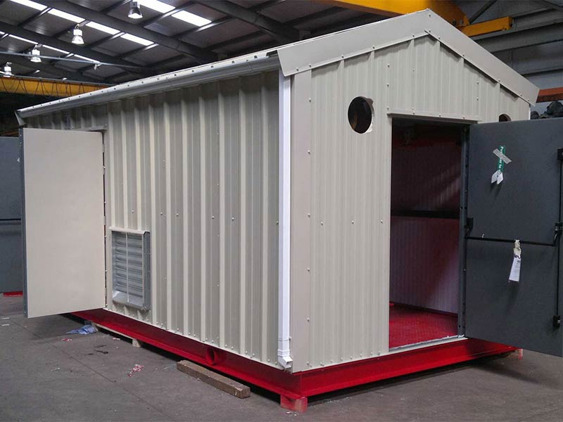 10m x 3m Gold range plant room for Patterson Pumps, for delivery to Chile, Shanette Sheds