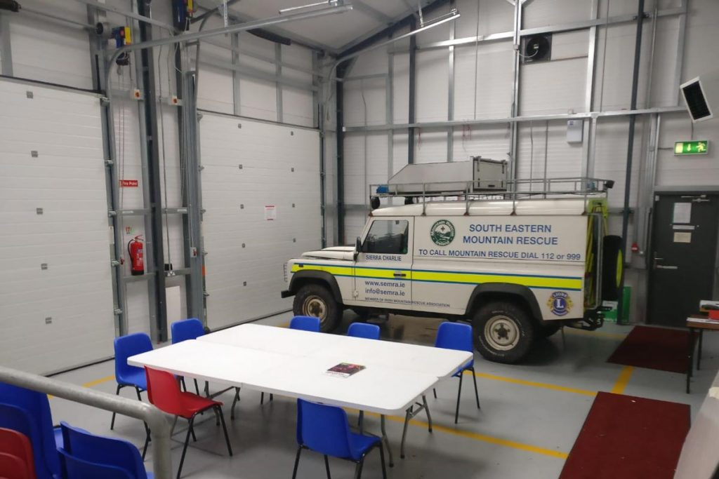 17.3m x 6.8m 80mm Gold Range unit with architectural panel used for mountain rescue. Shanette Sheds