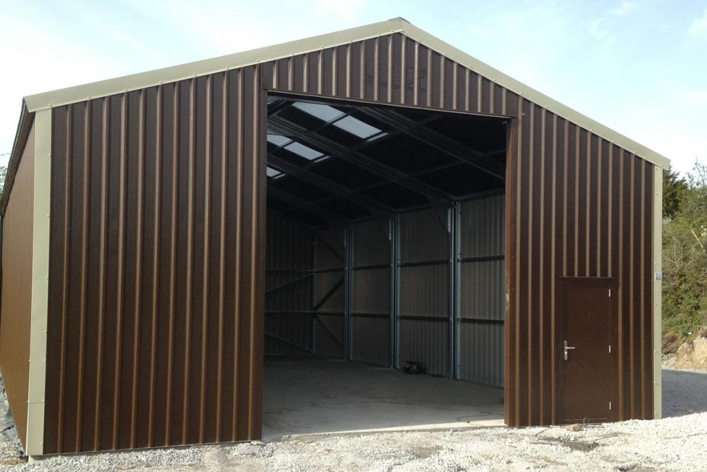 15.2m x 9.2m Bronze Range Unit with 4m walls Shanette Sheds