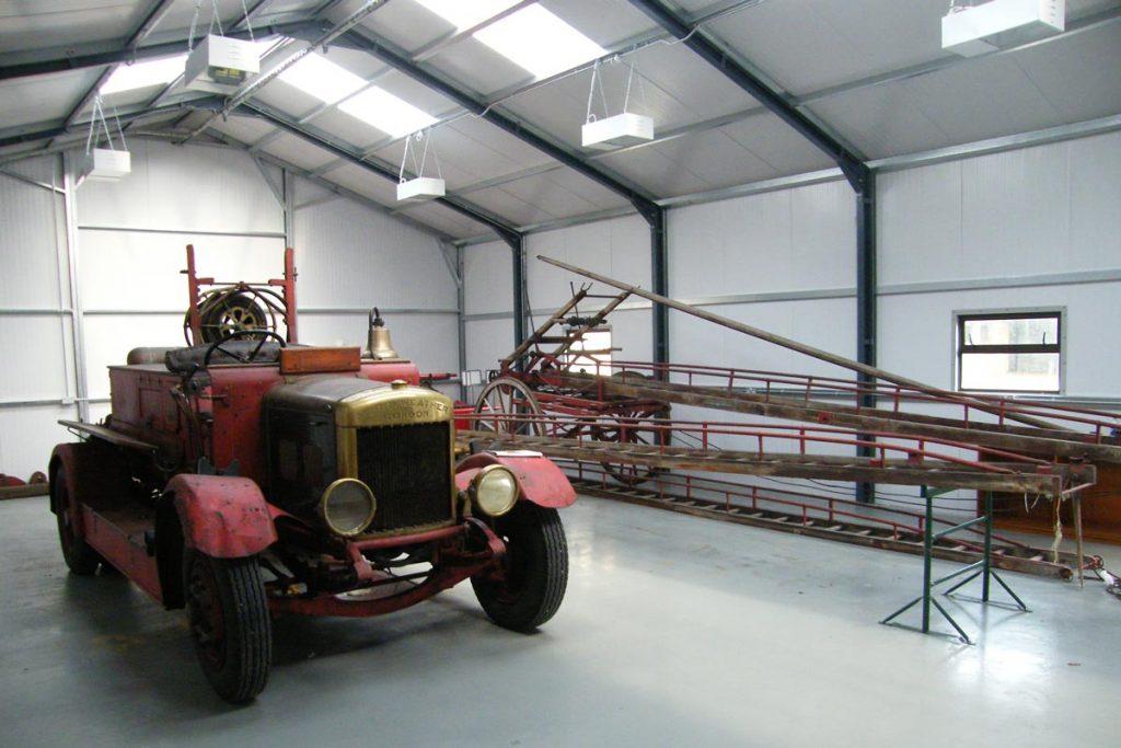 18.2m x 9.2m Gold Range interior, Limerick Fire station, Shanette Sheds
