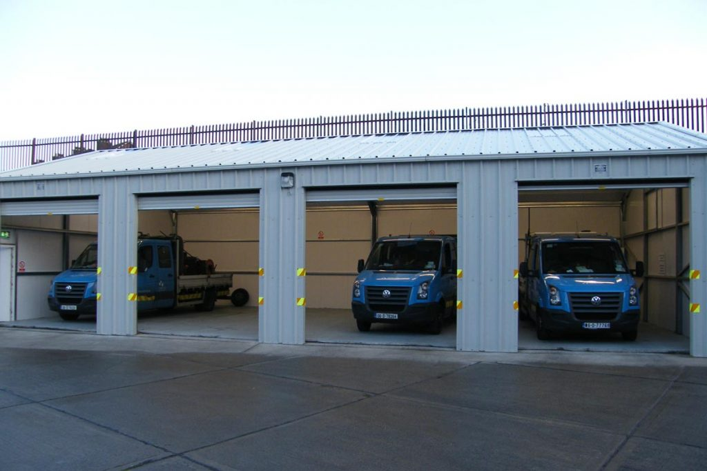 12.2m x 7m Gold Range vehicle storage unit for Dublin City Council