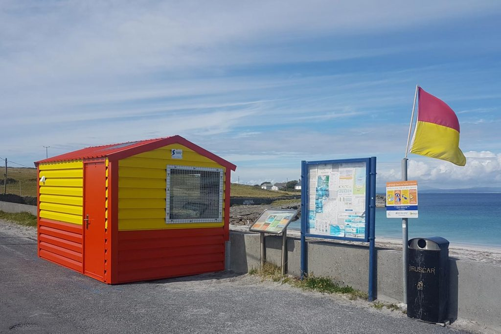 Lifeuard hut, Inis Mor, Shanette Sheds Emergency Services