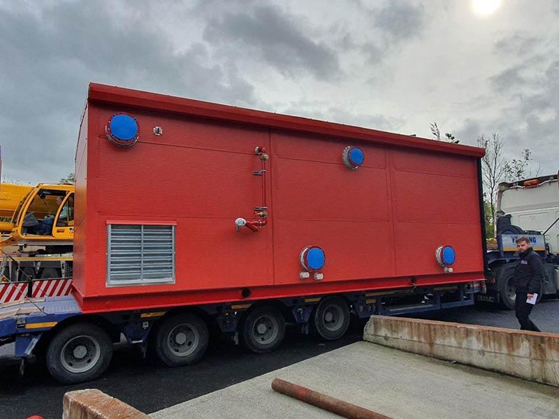Plant room built for Patterson pumps for Cork, Shanette Sheds 800