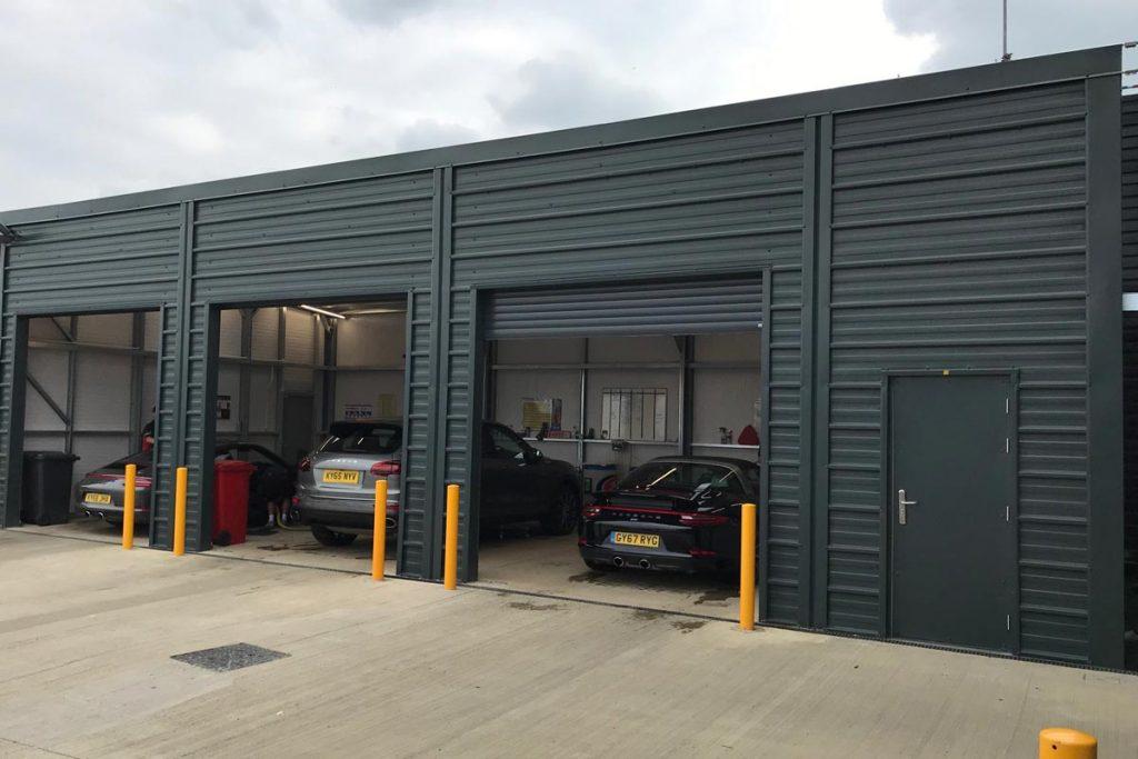 Valet unit for Porsche Silverstone, Shanette Sheds