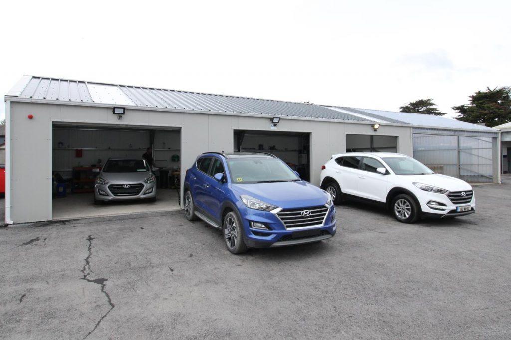 Valet & washbay unit, Winsor motors, Dublin Shanette Sheds