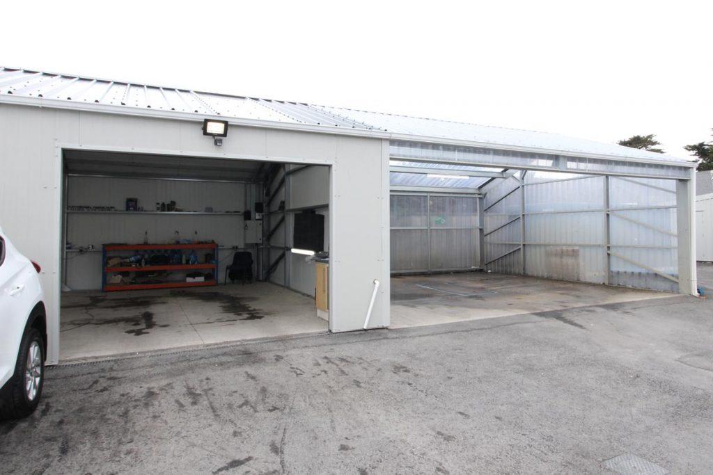 Valet unit & wash bay, Winsor motors Dublin, Shanette Sheds