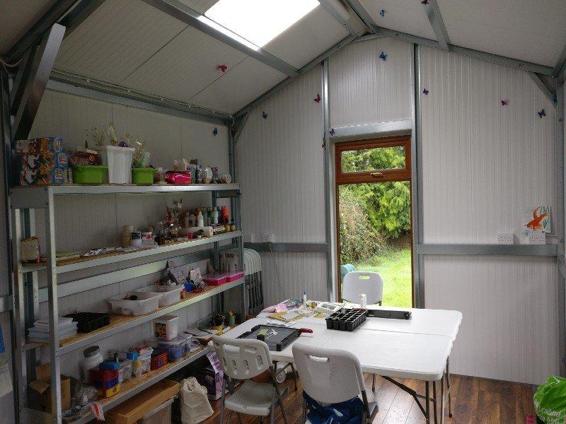 6.2m x 4m Gold Range Childrens Art Studio interior