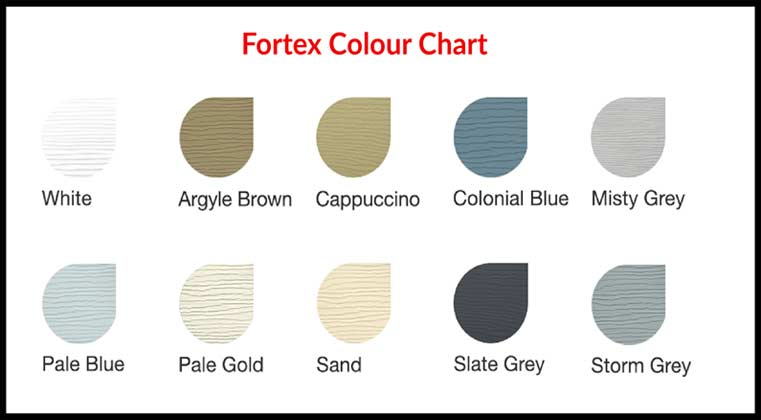 Fortex Colour Chart