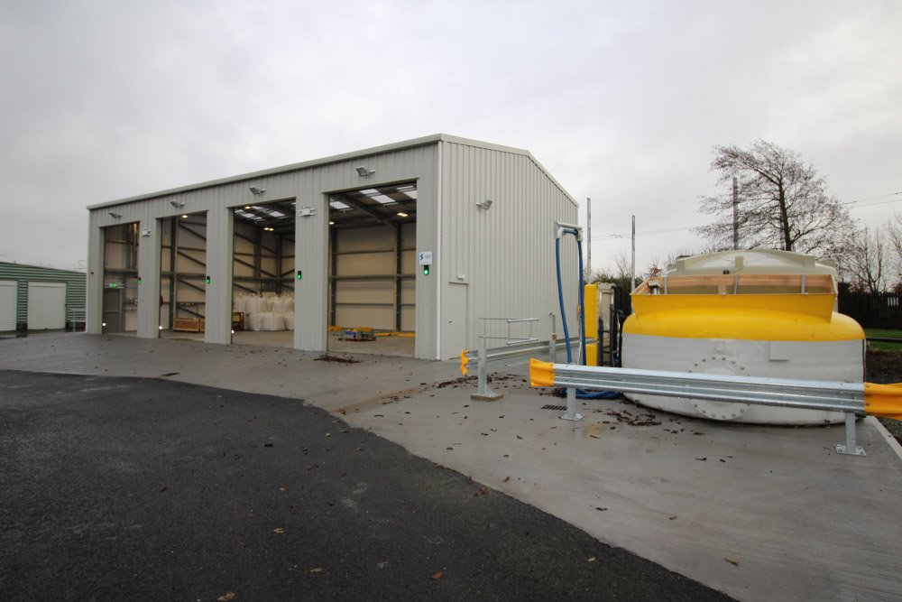 20m x 11m Gold Range unit with 6m walls. LUAS Red Cow Depot