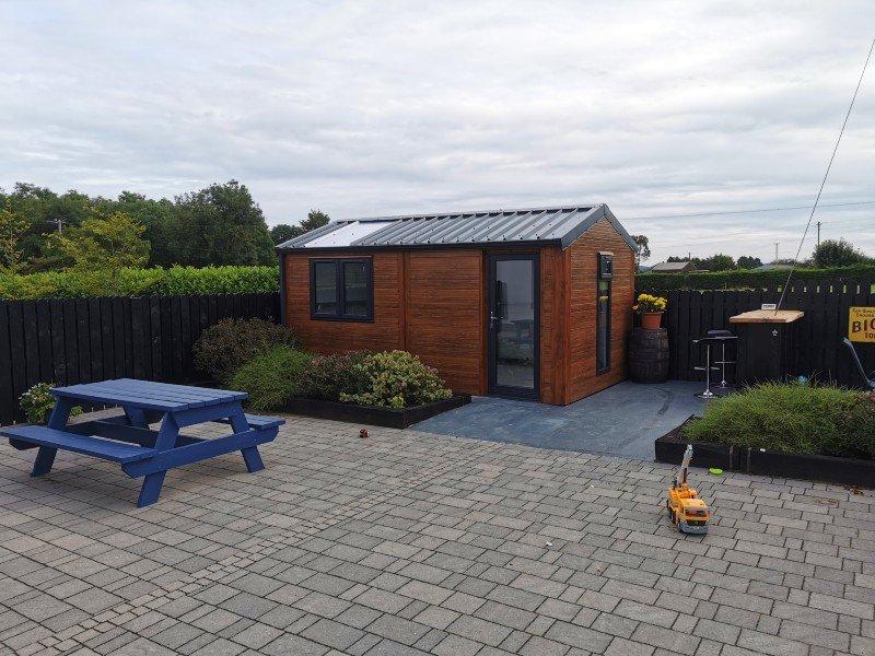 5.2m x 3m 40mm Gold Range Garden Room with uPVC door & 2no windows